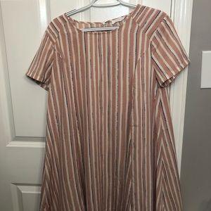 Women's Luxe Striped Dress Size: M